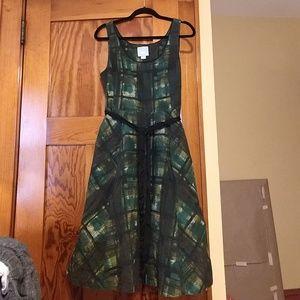 Maeve Green Plaid Petticoat Dress